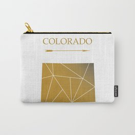 Colorado In Gold Carry-All Pouch