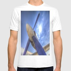 Ilyushin IL-18 Turbojet Engine White MEDIUM Mens Fitted Tee