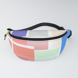 Minimalist Abstract Colour Blocks Fanny Pack