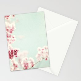 Pastel Spring Floral Photography, Pink Mint Flower Branches Photo, Springtime Blossoms Nursery Art Stationery Cards