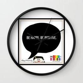 Happy Positivity Wall Clock