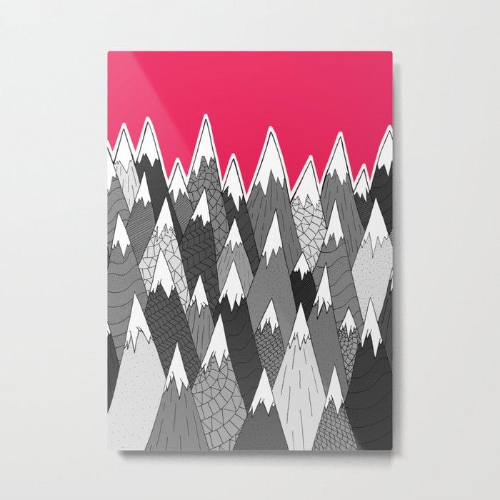 The Tall Grey Mountains Metal Print