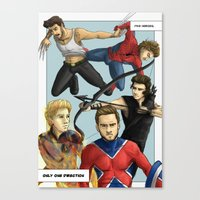 1d Canvas Prints featuring 1D superheroes by Aki-anyway