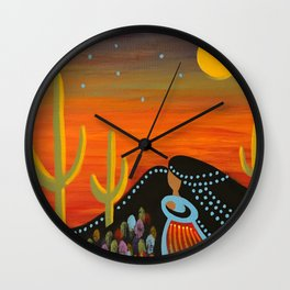 Desert Mother Wall Clock