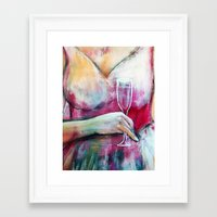 champagne Framed Art Prints featuring Champagne by By Malino