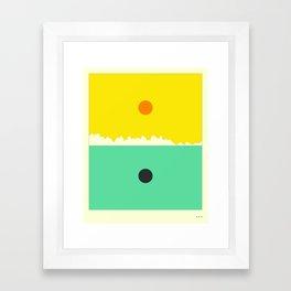 Minimal Landscape 18 (Sunrise) Framed Art Print
