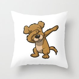 Funny Dabbing dog print - perfect gift for kids Throw Pillow