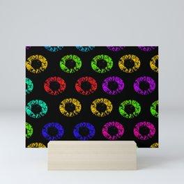 Colorful hair Scrunchies rubber band floral Pattern Mini Art Print