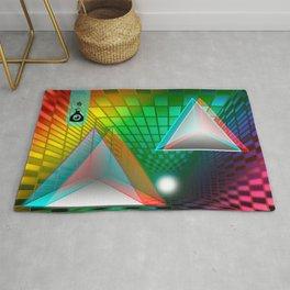 Rainbow triangle Rug