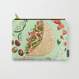 Falafel Mandala Carry-All Pouch