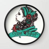 gypsy Wall Clocks featuring Gypsy by Rizsoo