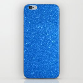 Blue Zircon December Capricorn Birthstone Shimmery Glitter iPhone Skin