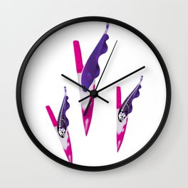 Ghost Knife fish Wall Clock