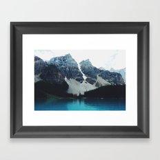 Moody Moraine lake Framed Art Print