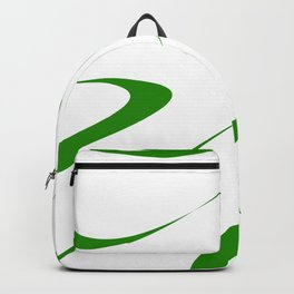 Abstract green and white. Backpack