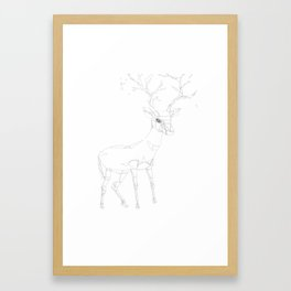 Geo Stag Framed Art Print