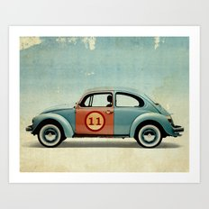 number 11 Bug Art Print