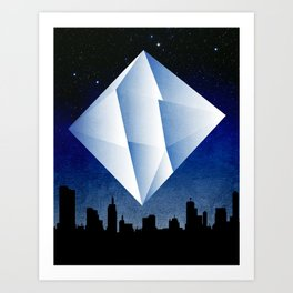 Ramiel Thunder of God Vector Angel Art from Evangelion Anime Series. Art Print