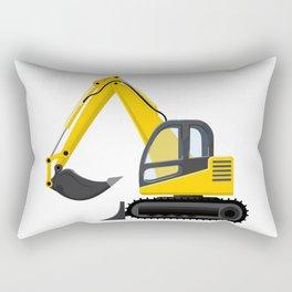Yellow Excavator Rectangular Pillow