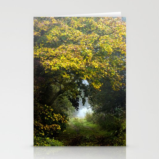 An Autumn  Lane Stationery Cards