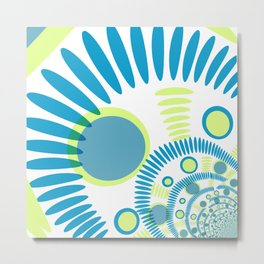 The blue graphical design Metal Print
