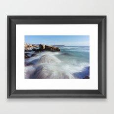 Noordhoek Beach - Long Exposure Seascape Framed Art Print