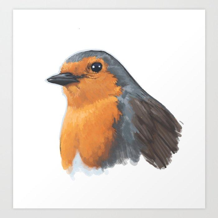 Robin Bird Illustration Art Print