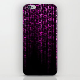Bright Neon Pink Digital Cocktail Party iPhone Skin