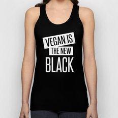 vegan is the new black. Unisex Tank Top