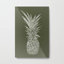 Pineapple : L'Olive Metal Print