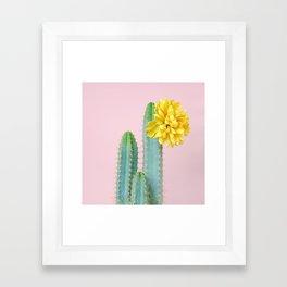 She wore flowers in her hair Framed Art Print