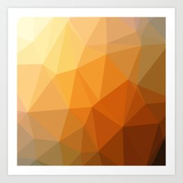 Shades Of Orange Triangle Abstract Art Print