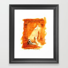 Antony & Cleopatra - Shakespeare Illustration Framed Art Print