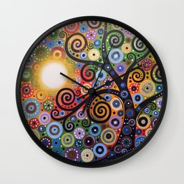 Abstract Art Landscape Original Painting ... Memory of Magic Wall Clock