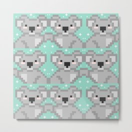 Koala pixel kawaii Metal Print