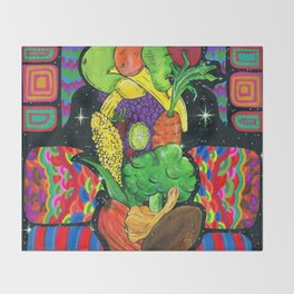 Eat Your Fruits and Veggies Throw Blanket