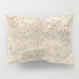 Vintage Map of Glasgow Scotland (1851) Pillow Sham