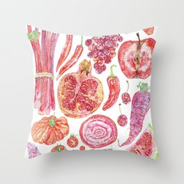 Harvest of Red Throw Pillow