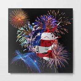 Abstract, Liberty, Flag (OS17006) Metal Print