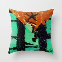 puerto rico Throw Pillows featuring Puerto Rico Flag by Fresh & Poppy