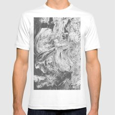 CRUMBLING Mens Fitted Tee MEDIUM White