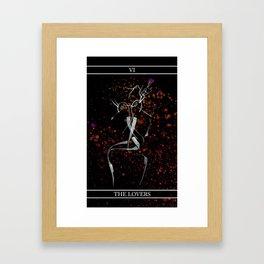 A Tarot of Ink Major Arcana VI The Lovers Framed Art Print
