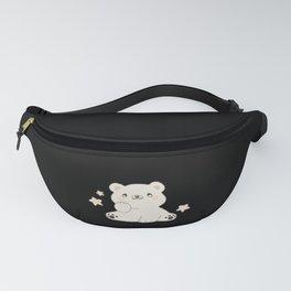 Polar Bear Cute Teddy Bear With Stars Cute Animals Fanny Pack