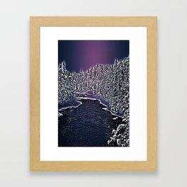 Winter river in Lapland Finland  Framed Art Print