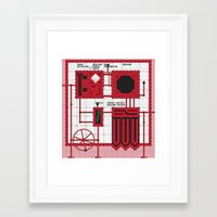 rocky horror Framed Art Prints featuring Rocky Horror Control Panel by Shawn Hall Design
