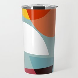Mid century abstract art 01 Travel Mug