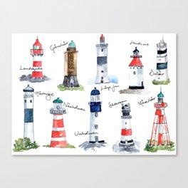 Swedish lighthouses Canvas Print