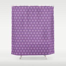 Japanese Yukata Jinbei Asanoha ayame Shower Curtain