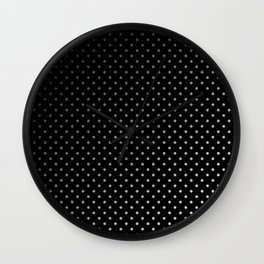 Mini Licorice Black with Faded White Polka Dots Wall Clock