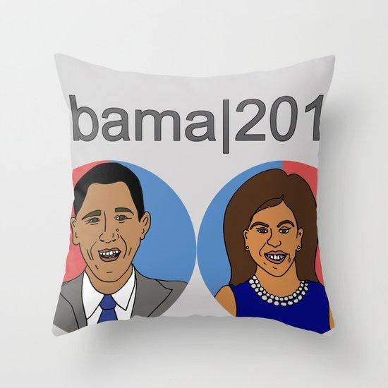 Obama, 2012 Throw Pillow